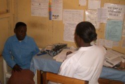 Nurse Annet in the clinic