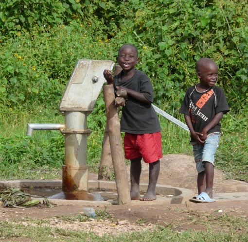 New water pump in Kibaale